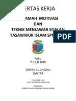 Kertas Cadangan Kursus Tasawwur Islam1