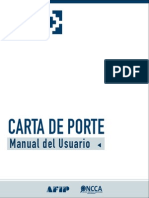 Carta de Porte - Manual Del Usuario - Afip - Oncca