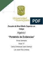 Portafolio de Evidencias (Algebra) Prt.1