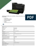 Especificaciones Hp Pro 8600