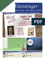 Encourager for February 2, 2014