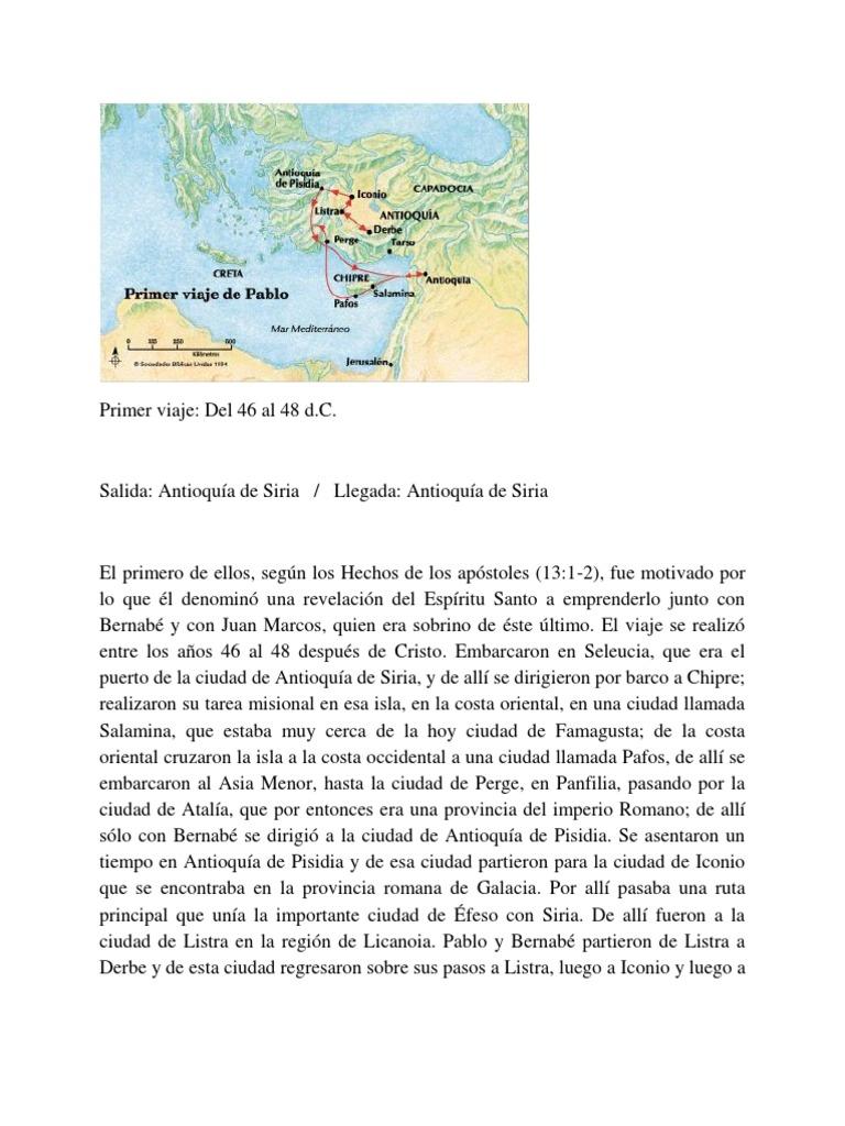 Los 4 Viajes Misioneros Del Apostol Pablo Ilustrados | Barnabas ...