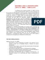 RESEÑA HISTORICA DE LA INSTITUCIÓN EDUCATIVA N