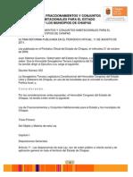Ley de Fraccionamientos y Conjuntos Habitacionales Para El Estado y Los Municipios de Chis 11ago2011
