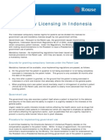 Compulsory Licensing in Indonesia