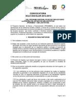 convocatoria 2012-2013