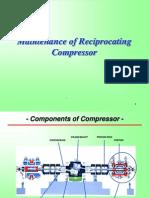 Maintenance of Reciprocating Compressor