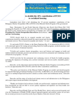 jan29.2014 bSolons want to abolish the 10% contribution of PCSO to socialized housing