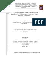 Observ. y Analisis de La Practica Educativa