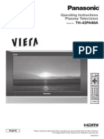 Panasonic Plasma TH-42PA60AC Operating Instructions