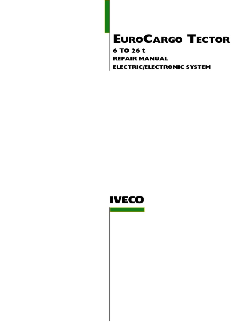 Eurocargo Tector 6-26t electronic system pdf | Electrical