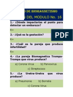 Curso de Biomagnetismo Examenes 16 y 16-A