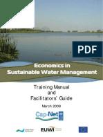 Economics and Sust WRM Manual[1]