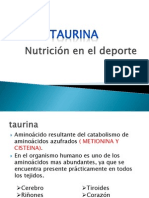 Efecto de la taurina en el rendimiento físico