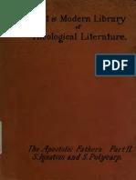 Wake, Burton, Reeves. The apostolic fathers. [1888-1889?]. Vol. 2.