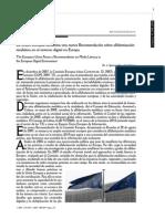AGUADED-GÓMEZ (2010) Recomendación Unión Europea sobre alfabetización mediática