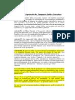 Discusión y Aprobación del Presupuesto Publico Venezolano