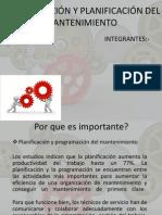 PROGRAMACIÓN Y PLANIFICACIÓN DEL MANTENIMIENTO