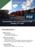 Neighbourhood Meeting Presentation - January 27, 2014