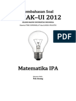 Pembahasan Soal SIMAK-UI 2012 Matematika IPA Kode 521