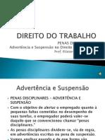 DIREITO DO TRABALHO - ADVERTENCIA E SUSPENSÄO