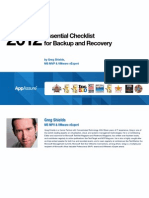 Essential Checklist for Backup and Recovery