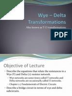 Wye Delta Transformations