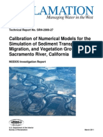Calibration of Numerical Models for the Simulation of Sediment Transport River Migration and Vegetation Growth on the Sacramento River California