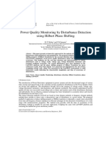 Power Quality Monitoring by Disturbance Detection using Hilbert Phase Shifting