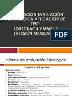 PRESENTACIÓN EVALUACIÓN  PSICOLÓGICA -MMPI-2_RORSCHACH_2014.