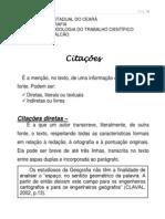 CITAÇÕES DIRETAS E INDIRETAS