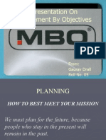 A Presentation on Management by Objectives