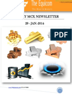 MCX News letter by TheEquicom 29-jan-14