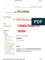 Blog - Powell - Evaluation Research