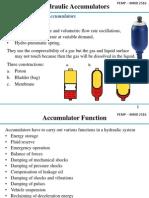 Accumulators Selection and Design