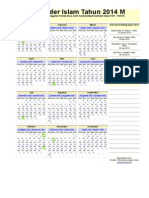 Kalender Islam Ummulqura 2014