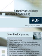 Pavlov's Theory of Learning
