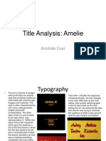 Title Analysis Amelie