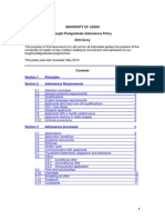 Taught Postgraduataught_postgraduate_admissions_policy2014.pdfte Admissions Policy2014