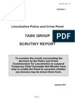 LPCP Task Group Scrutiny Report
