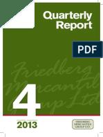 Fourth Quarter 2013 - Quarterly Report