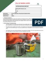 Intervention Report - Crude Oil Metering HPU Pressure Loss