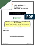 Life Sciences P2 Nov 2012 Version 1 Eng