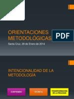 ORIENTACIONES METODOLÓGICAS 2014