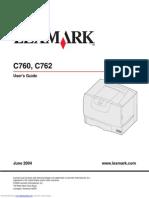 Lexmark c762 User Guide