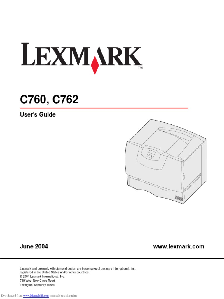 Lexmark c762 User Guide | Electromagnetic Interference | Operating System