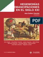 Ana Esther Cecena Hegemonias y Emancipaciones en El Siglo XXI Coleccion Grupos de Trabajo de Clacso Spanish Edition 2004