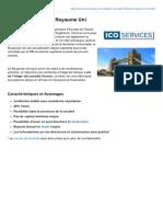 Fiche descriptive - Société Onshore au Royaume Uni (ICO Services)