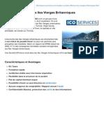 Fiche descriptive - Société Offshore aux Iles Vierges Britanniques (ICO Services)