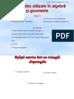 Formule esentiale matematica gimnaziu